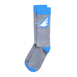 Men's Fun Unique Crazy Wing Dress Casual Socks Grey Sky Blue White Made in America USA