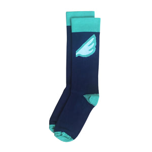 Seattle Seahawks Men's Fun Unique Crazy Wing Dress Casual Socks Black Red White Made in America USA