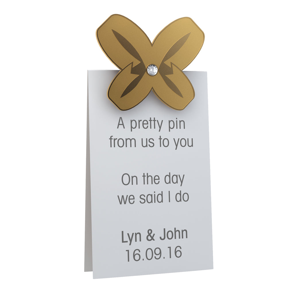 Wedding Favour Pin Badge A Gift To Lift
