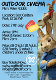East Carlton Park - Outdoor Cinema Peter Rabbit Family