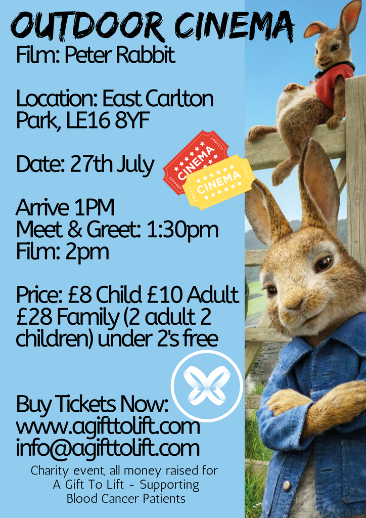 East Carlton Outdoor Cinema Peter Rabbit Child