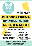 Outdoor Cinema Peter Rabbit Family