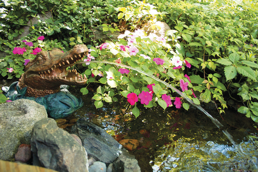 Garden Picture of Poly-Resin Alligator Spitter by Aquascape