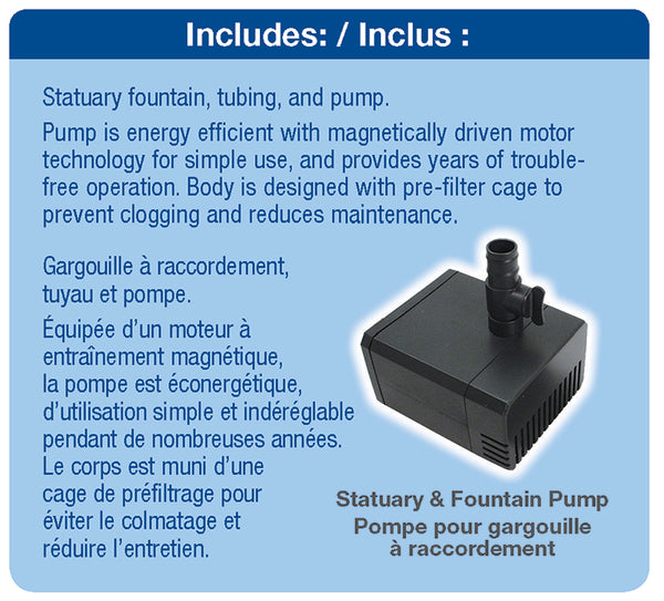 Poly-Resin Spitter with Water Pump by Aquascape