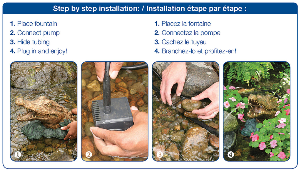 Step By Step Installation Instructions for Poly-Resin Spitter by Aquascape