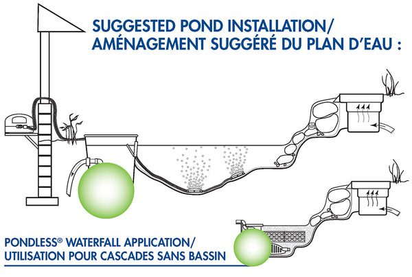 AquaSurge® Suggested Installation Diagram by Aquascape