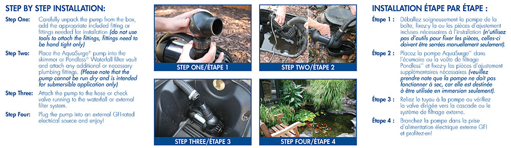 Step by Step Installation for AquaSurge® 3000 Pond Pump by Aquascape