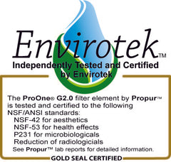 Propur ProOne® G2.0 Filter Tested by Envirotek
