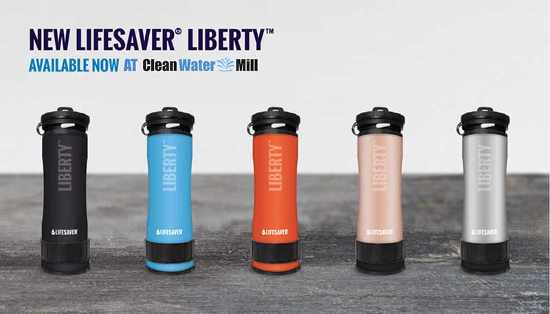 New Lifesaver Liberty Advanced Water Filtration Bottle