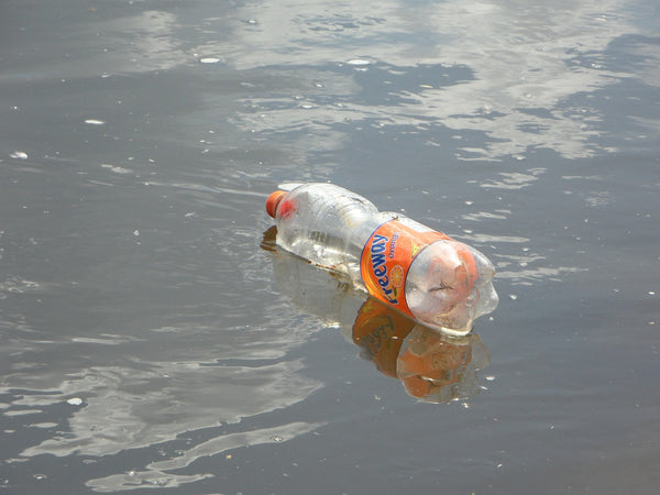 Plastic bottles contaminating our water ways and harming the environment.  Say no to plastic.