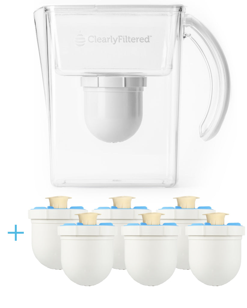 Clearly Filtered™ Clean Water Pitcher + Filter 6-Pack