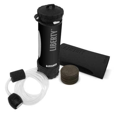 Lifesaver® Liberty™ Advanced Water Filtration Bottle - Starter Pack - Black - Pack View