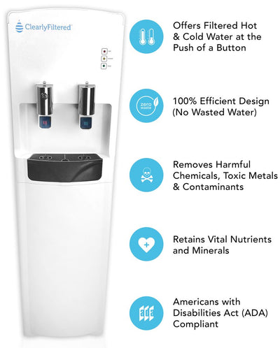 Clearly Filtered™ Water Tower - Ultimate Water Dispenser - Features View