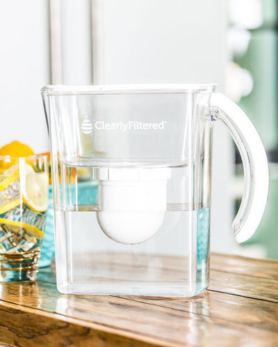 Clearly Filtered™ Water Pitcher + Filter 3-Pack Combo Affinity Technology - Kitchen View