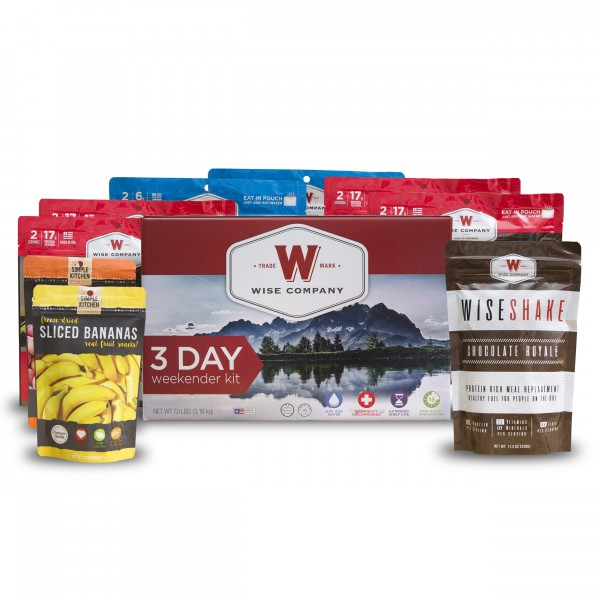Wise Company 3-Day Weekender Kit (Camping Pouch, Fruit and Shake)