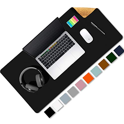 Aothia Office Desk Pad, Eco-Friendly Cork & PU Leather Dual Sided Large Desktop/Mouse Pad