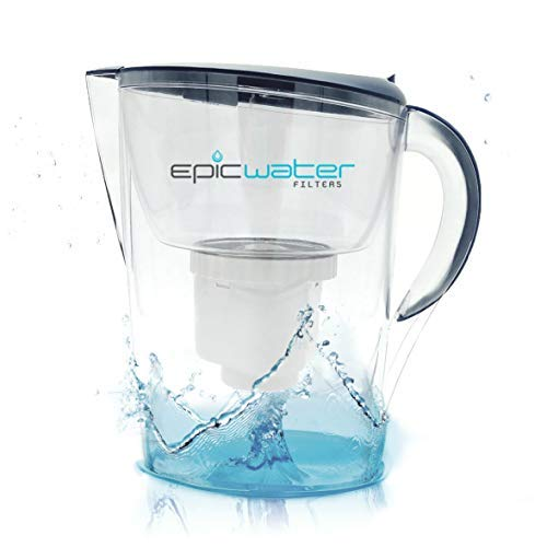 Epic Pure Water Filter Pitcher | Navy Blue | 3.5L | 100% BPA-Free | Removes Fluoride, Lead, Chromium 6, PFOS PFOA, Heavy Metals, Microorganisms, Pesticides, Chemicals, Industrial Pollutants & More