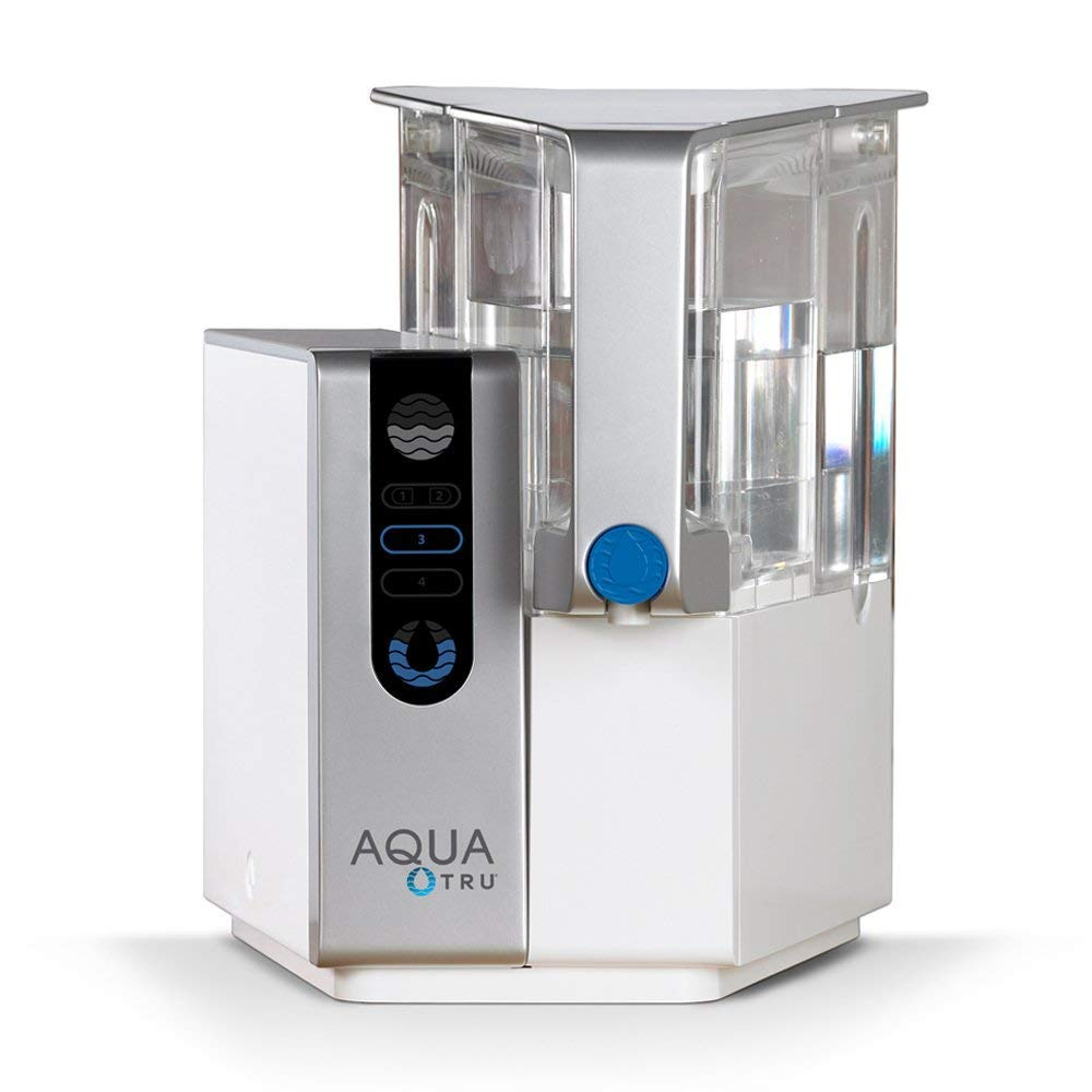 AQUA TRU Countertop Water Filtration Purification System Exclusive 4 - Stage Ultra Reverse Osmosis Technology