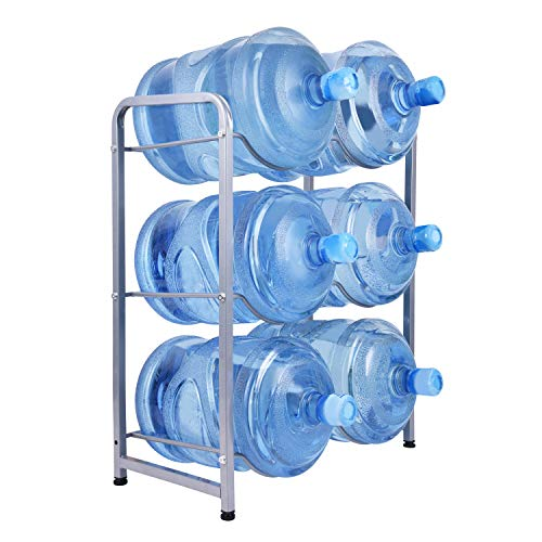Ationgle 5 Gallon Water Cooler Jug Rack for 6 Bottles