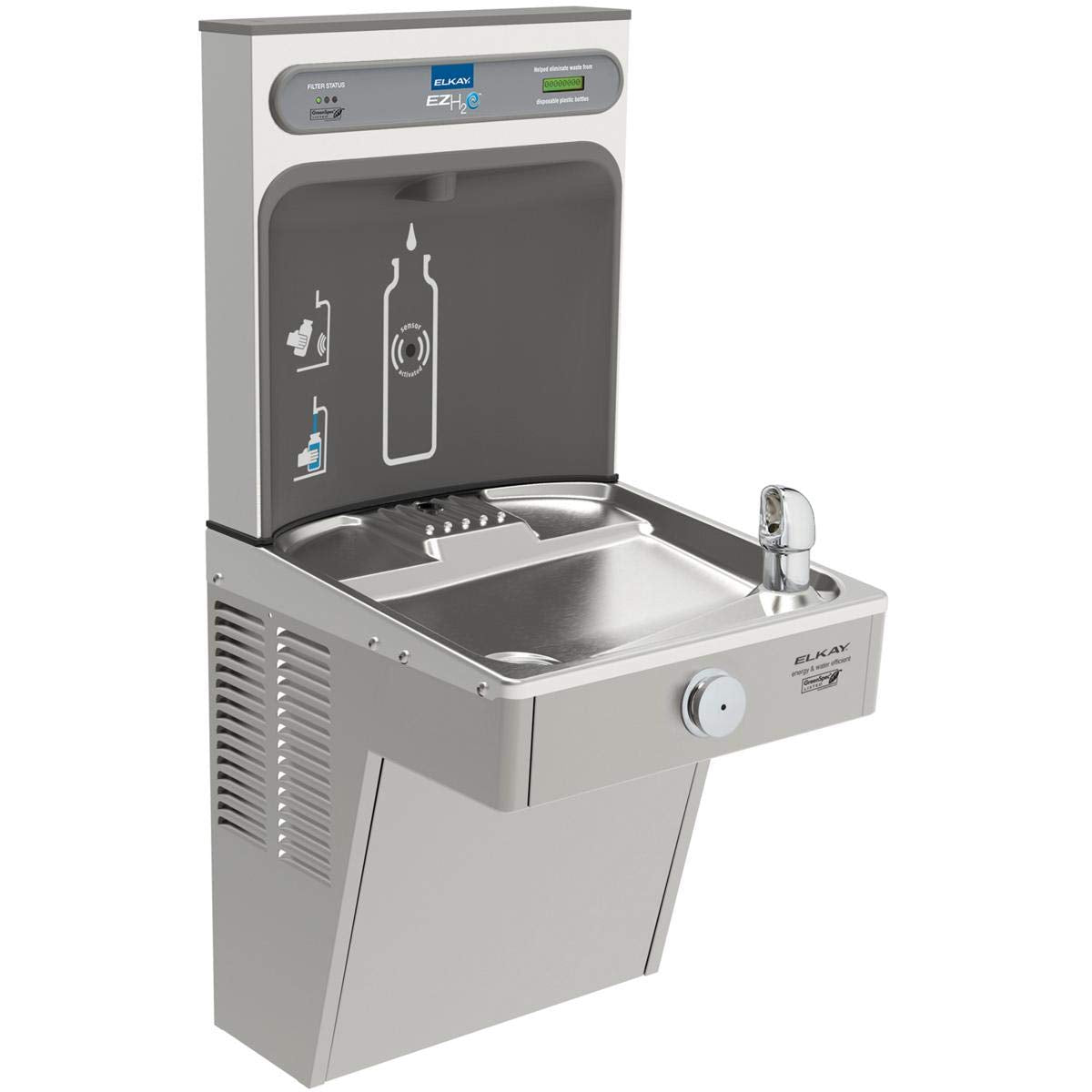 Elkay  EZH2O Bottle Filling Station and Single High Efficiency Vandal Resistant Cooler