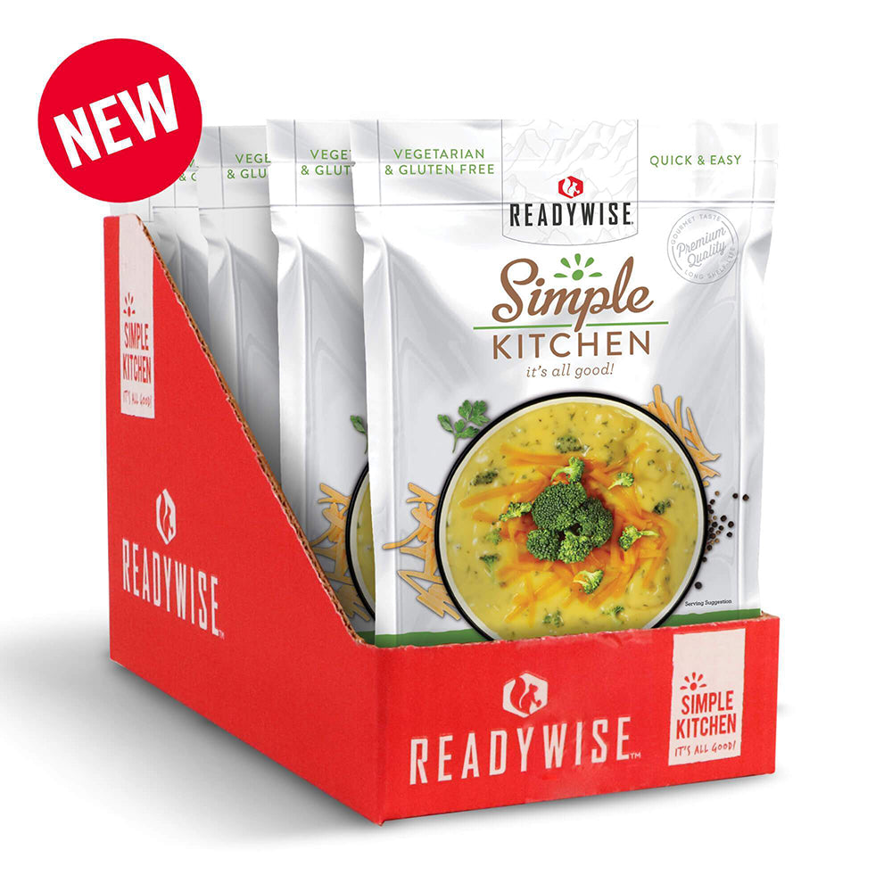 Simple Kitchen Creamy Cheddar Broccoli Soup - 6 Pack