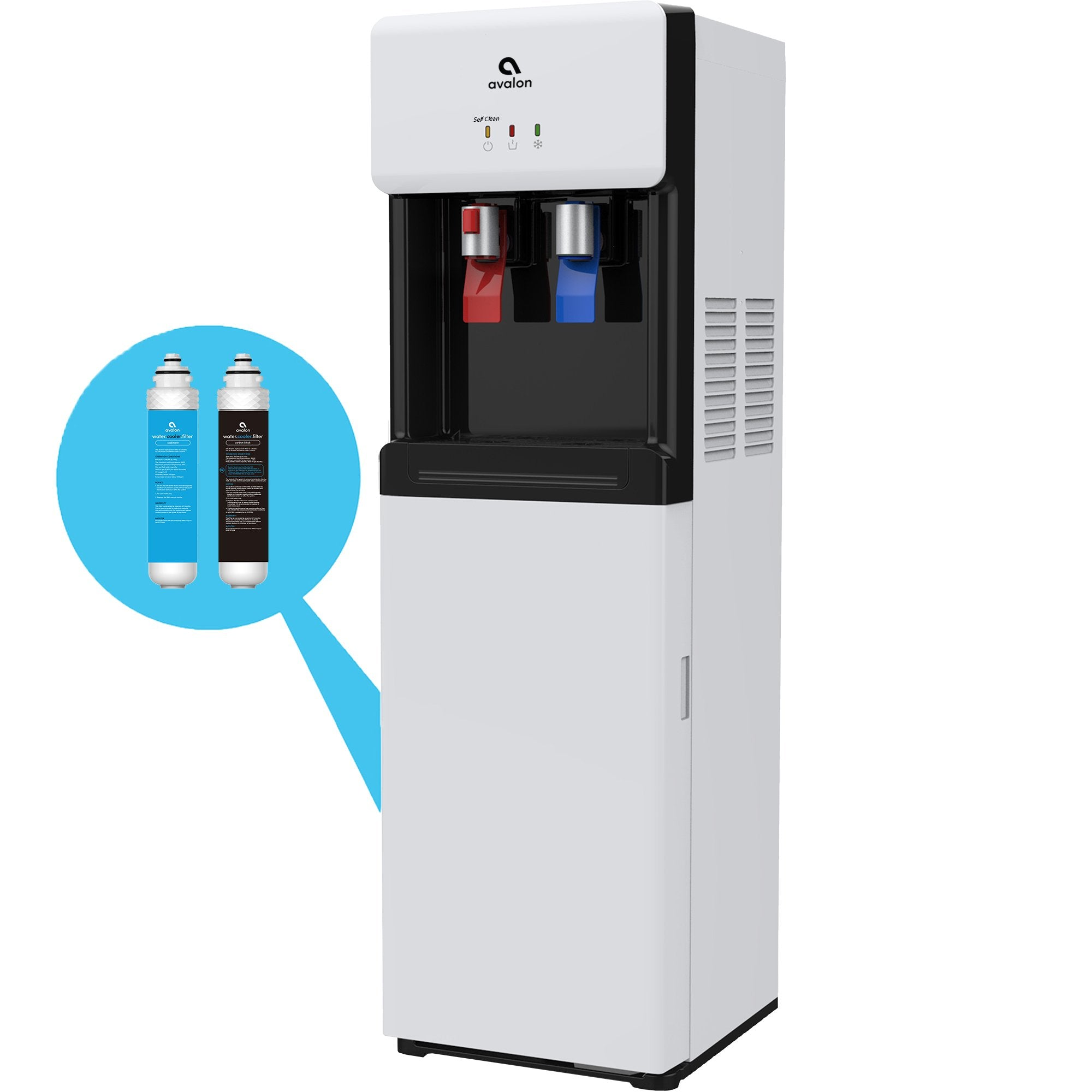 Avalon Self Cleaning Bottleless Water Cooler Dispenser - Hot & Cold Water with Child Safety Lock