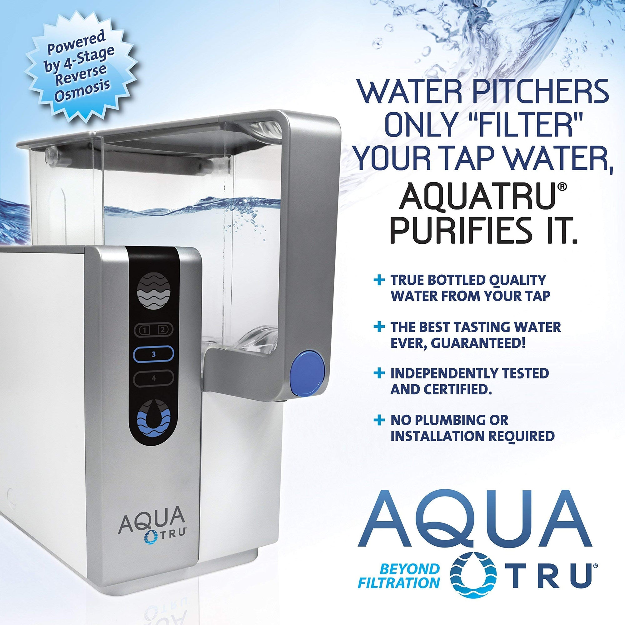AQUA TRU Countertop Water Filtration reversee Osmosis Purification System
