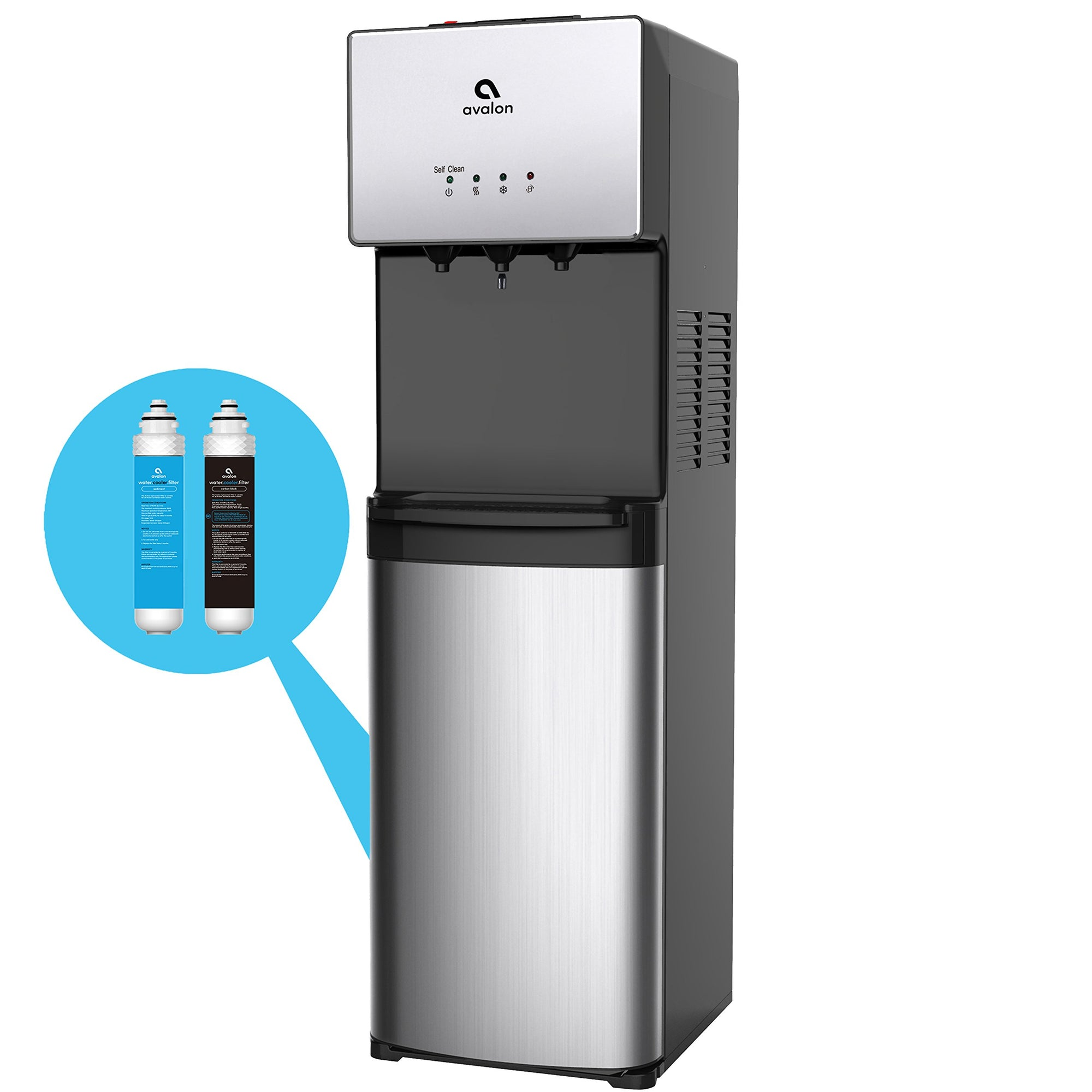 Avalon A5BOTTLELESS A5 Self Cleaning Bottleless Water Cooler Dispenser, Stainless Steel