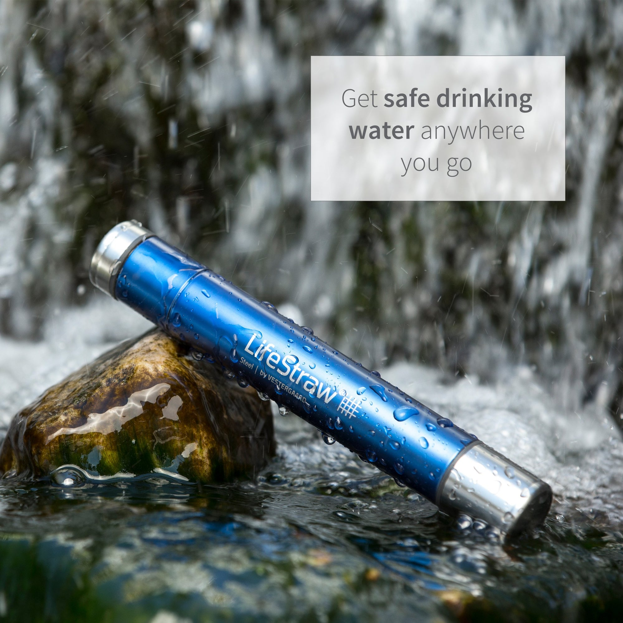 LifeStraw Steel Personal Water Filter with 2 Stage Carbon Filtration - Main View