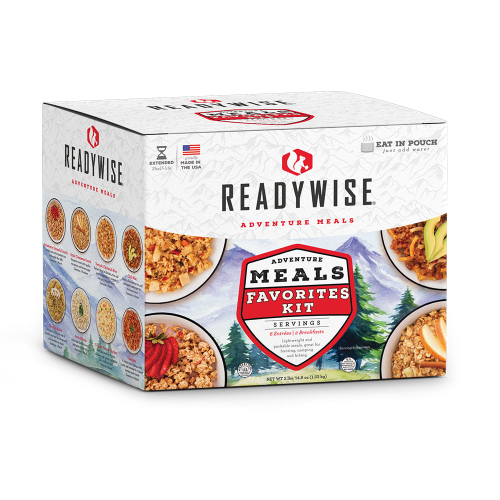 ReadyWise Adventure Meals Camping Favorites