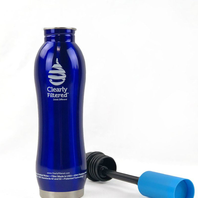 3171ee04fb Clearly Filtered™ - Stainless Steel Filtered Water Bottle - Clean ...