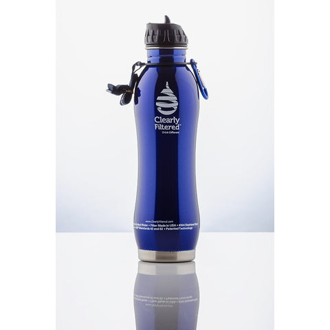 Clearly Filtered™ - Stainless Steel Filtered Water Bottle