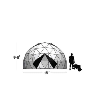 Harvest Right™ 16' Geodesic Greenhouses - Diagram View