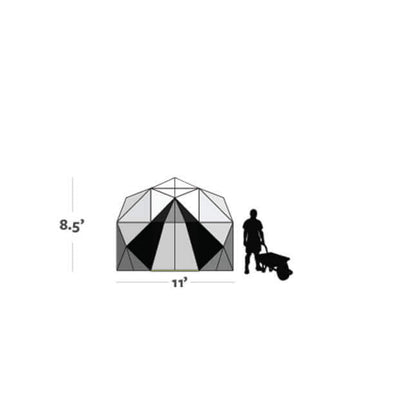 Harvest Right™ 11' Geodesic Greenhouse - Diagram