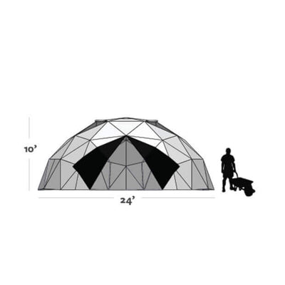 Harvest Right™ 24' Geodesic Greenhouse - Diagram