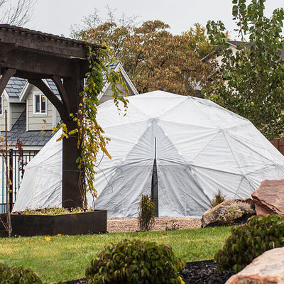 Harvest Right™ Geodesic Greenhouse - Backyard View