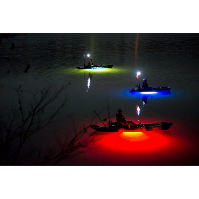 NOCQUA Pro Series Spectrum – Color LED Lighting System for Kayaks & Stand-Up Paddleboards - Kayak View