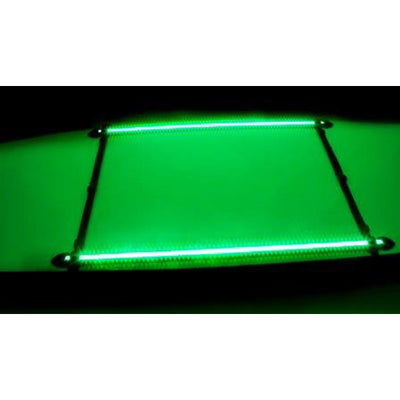 NOCQUA Pro Series Spectrum – Color LED Lighting System for Kayaks & Stand-Up Paddleboards - Green View