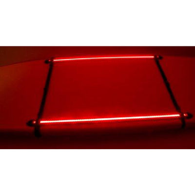 NOCQUA Pro Series Spectrum – Color LED Lighting System for Kayaks & Stand-Up Paddleboards - Red View