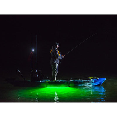 NOCQUA Pro Series Spectrum – Color LED Lighting System for Kayaks & Stand-Up Paddleboards Night Fishing Kayak View