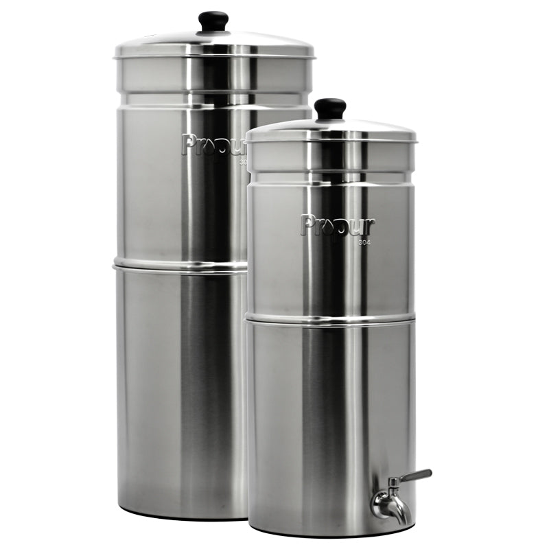 Propur® Brushed King - Gravity Fed Water Filtration System - Main