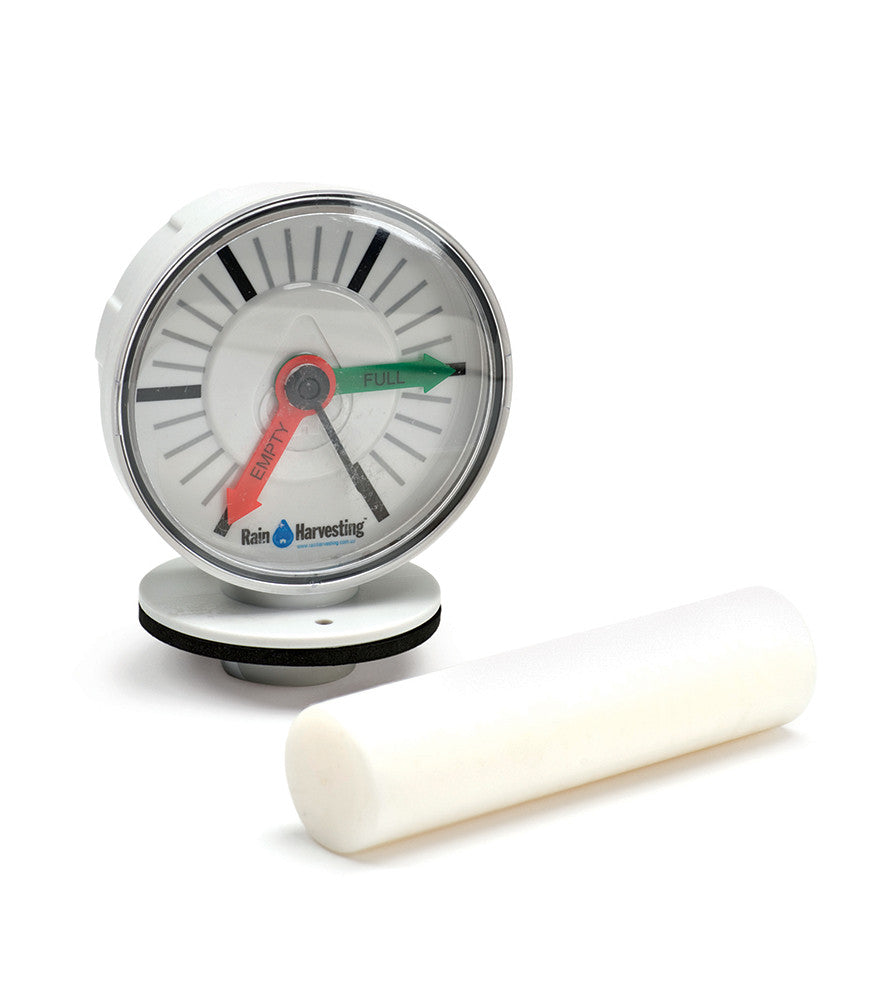 Rain Harvesting Tank Gauge - Atlantic Water Gardens at cleanwatermill.com - Clean Water Mill