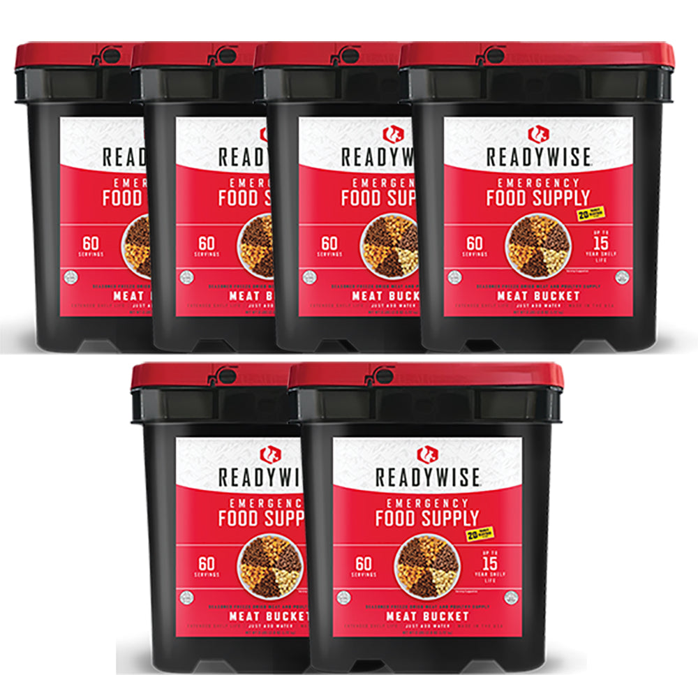 ReadyWise Freeze Dried Meat - 360 Serving Buckets