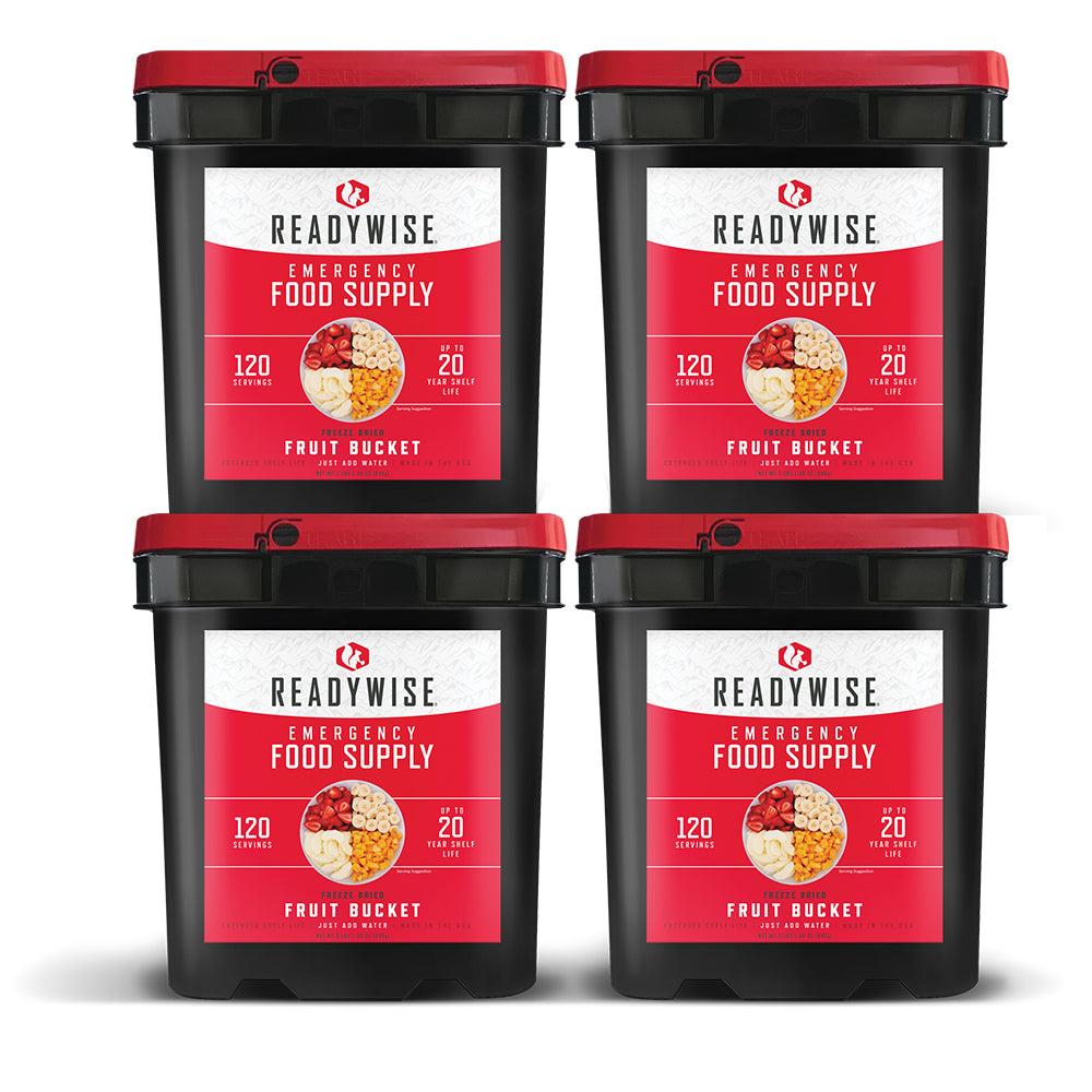 ReadyWise™ Freeze Dried Fruit - 480 Servings - 4 Buckets
