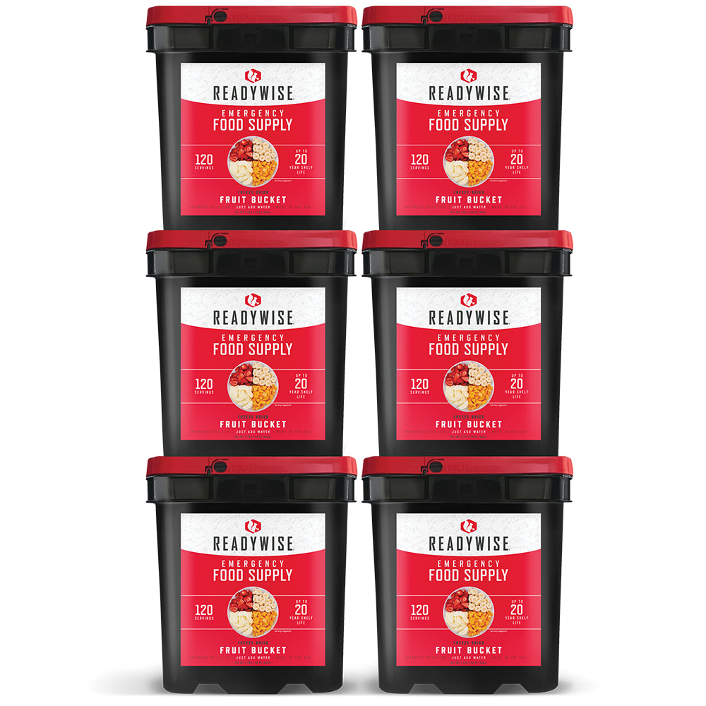 ReadyWise™ Freeze Dried Fruit - 720 Servings - 6 Buckets
