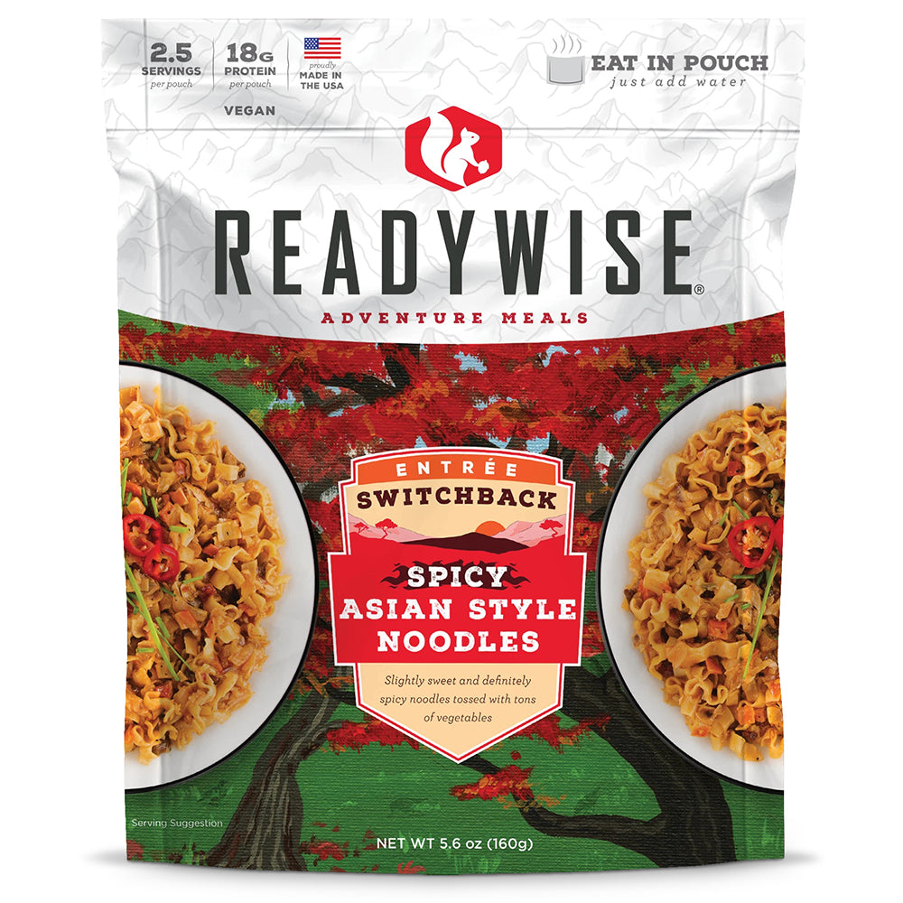 ReadyWise™ Switchback Spicy Asian Style Noodles - 6 Pack