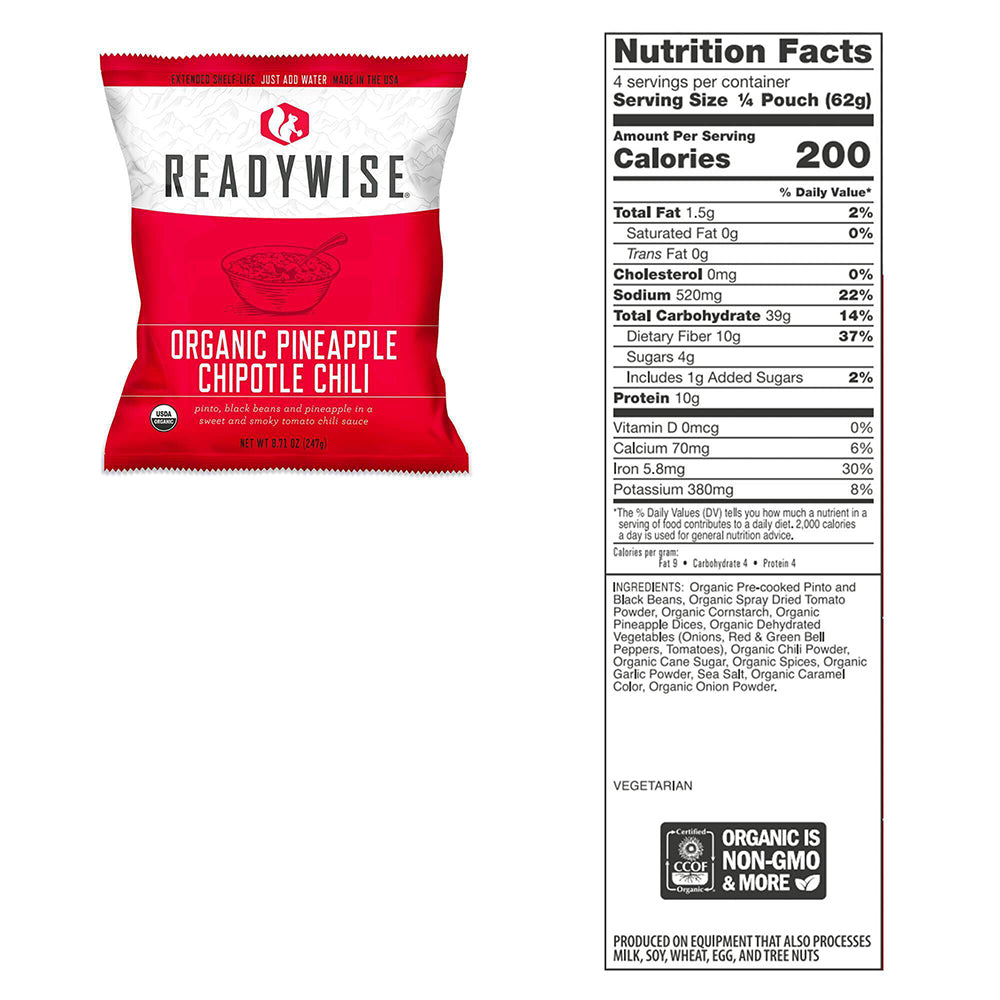 ReadyWise Organic Emergency Freeze Dried Food Supply - 90 Servings - Bucket View