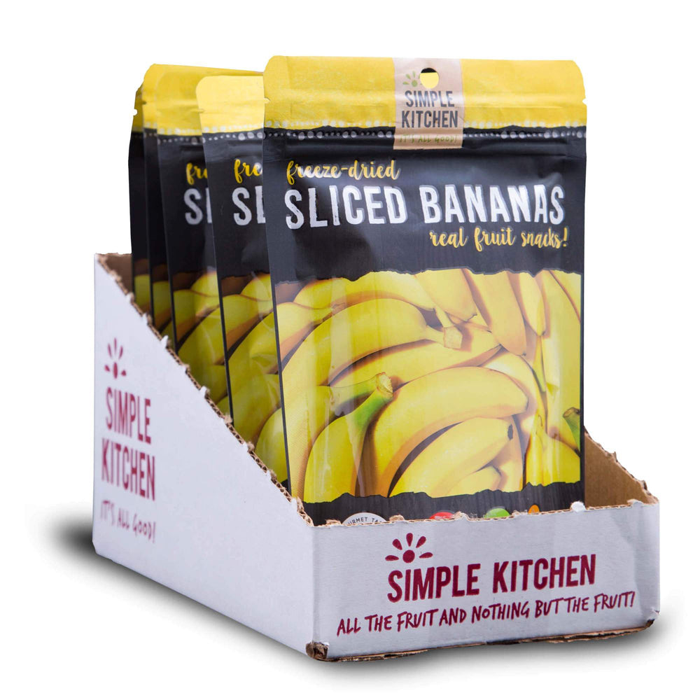Simple Kitchen Freeze-Dried Sliced Bananas - 6 Pack