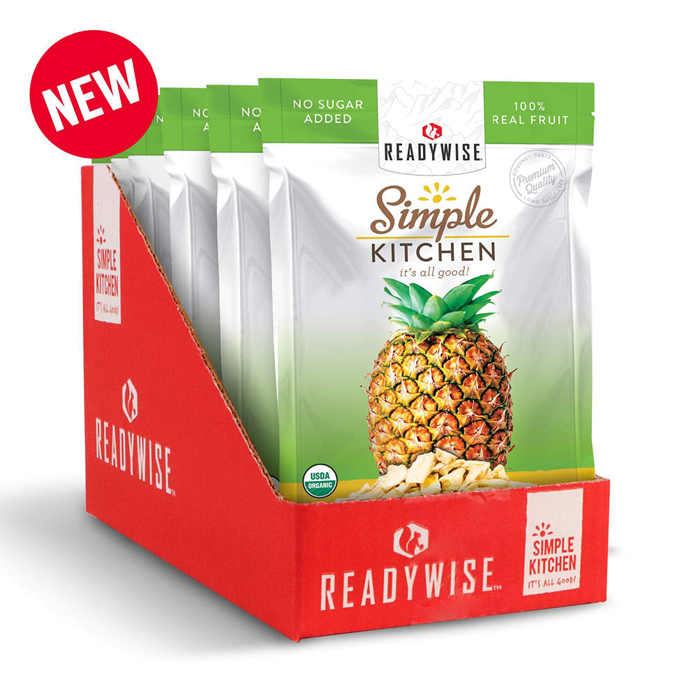 Simple Kitchen Organic Freeze-Dried Pineapples - 6 Pack