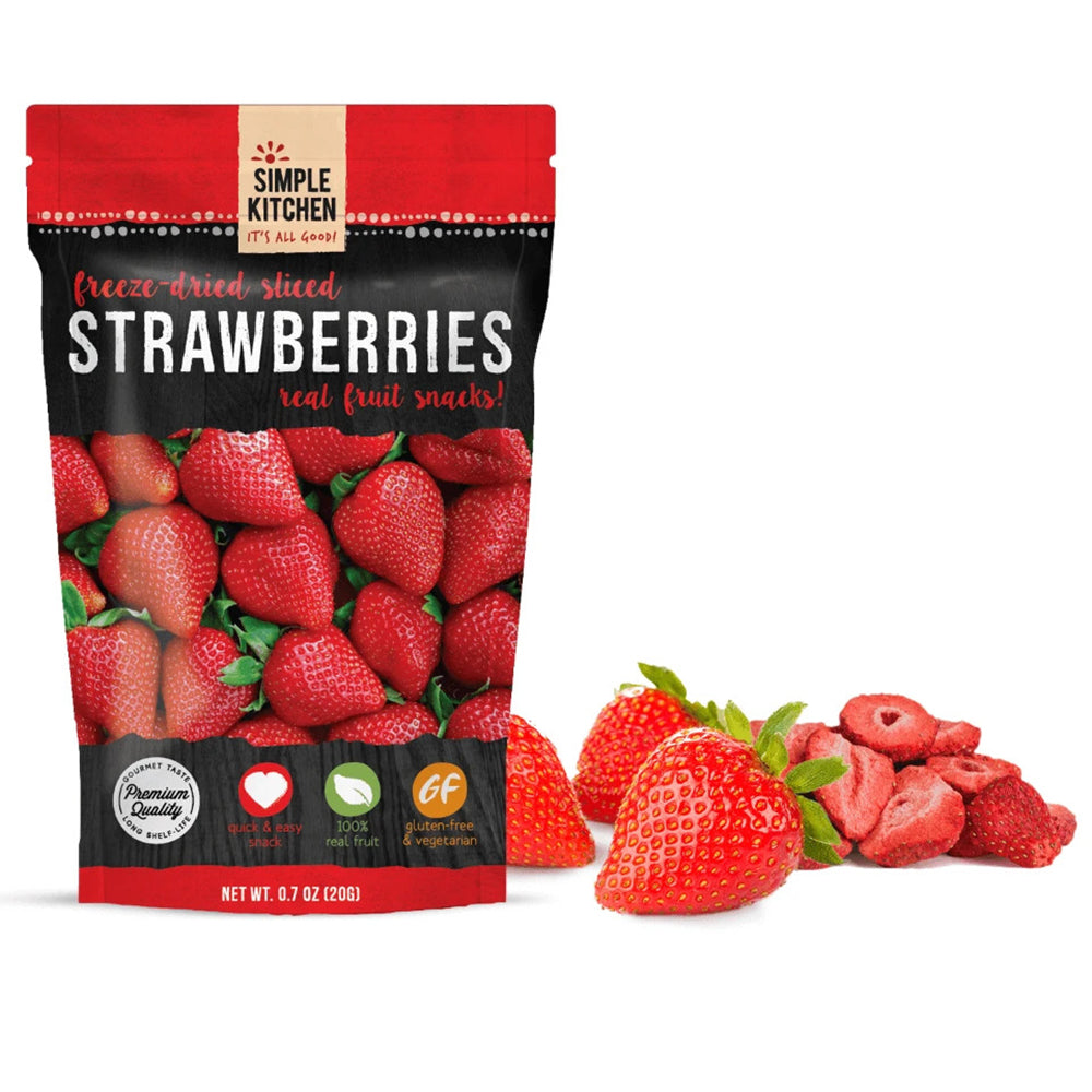 Simple Kitchen Freeze-Dried Sliced Strawberries